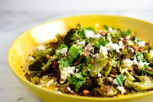 Brown Butter Broccoli over Quinoa and Feta