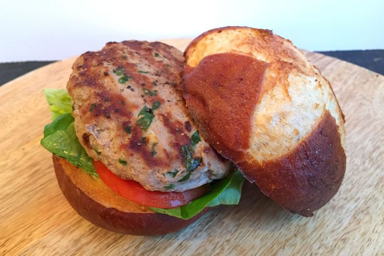 Asian Dijon Turkey Burgers