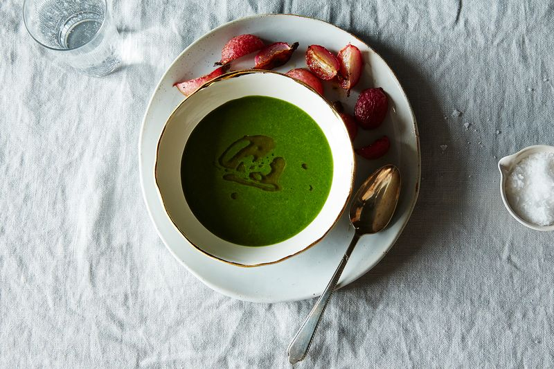Radish Top Soup and Slow-Roasted Radish Roots with Fennel Seeds