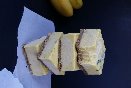 Banana Mango Square Bites