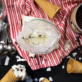 Zip-Top Bag Coconut Ice Cream with Cacao Nibs