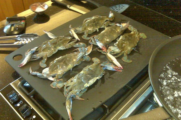 Soft Shell Crabs in Brown Butter Sauce with Capers and Lemon