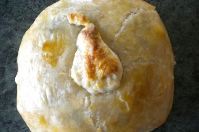 Retro Pear and Brie En Croute