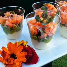 Smoked Salmon & Guacamole Shooter