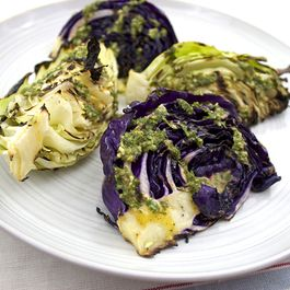 Grilled Cabbage with Herb Lime Dressing