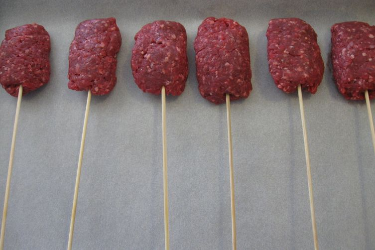 Bison Burgers on a Stick