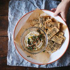 Za'atar-Spiced Chickpea Crackers with Maldon Sea Salt