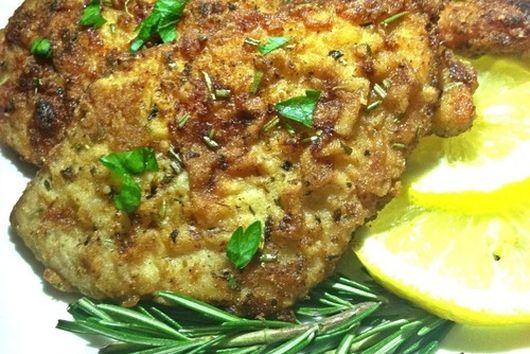 Gluten Free Lemon Rosemary Pan-Fried Chicken