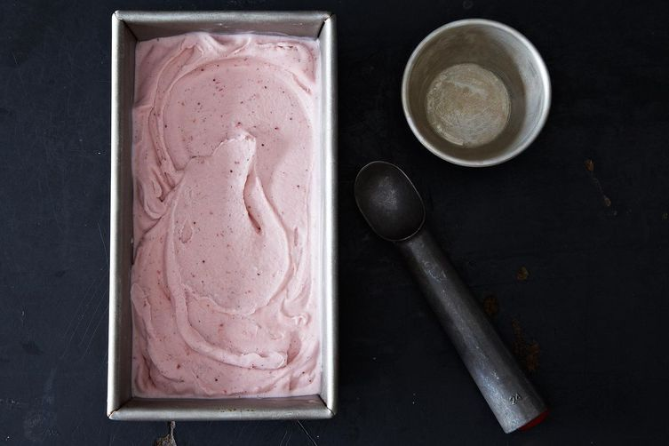 Vegan Ice Cream: Strawberry Vanilla Coconut Ice Cream