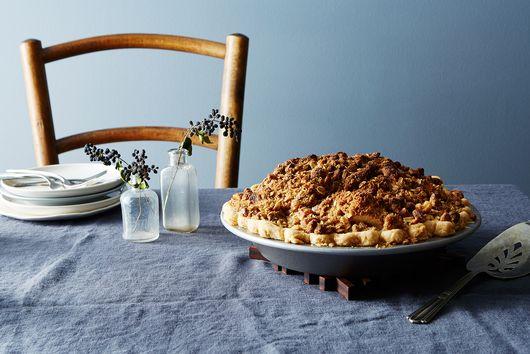 Open-Faced Deep Dish Apple Pie