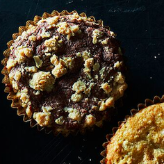Chocolate Raspberry Streusel Muffins