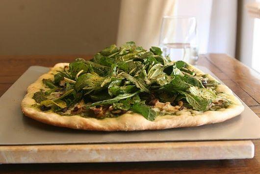 Asparagus-Arugula Pesto Pizza