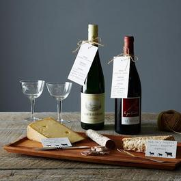 Letterpress Wine & Cheese Tags