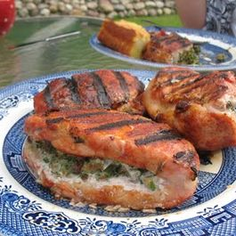 "Herb Stuffed Pork Chops with ""Super Secret"" Spice Rub"