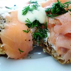 Smoked Salmon with Honey-Mustard Sauce blobs