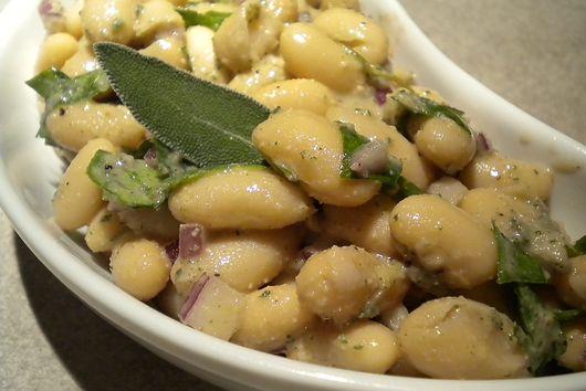 Tuscan Bean Salad with a Walnut Sage Vinaigrette