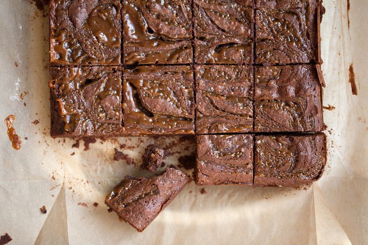 Salted Peanut Butter Caramel Brownies