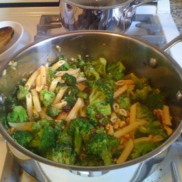 Penne with Broccoli, Raisins, and Walnuts