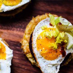 Beet n Egg Pancake Breakfast Sliders