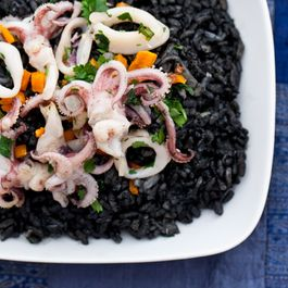 Spicy Squid Ink Risotto (without the plane ticket)