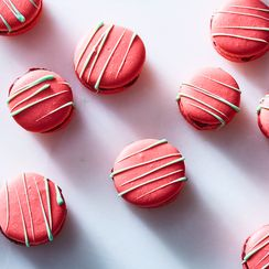 Eric Kayser's Raspberry-Lime Macarons