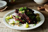 Lamb Ribs with Tamarind, Honey, and Toasted Peanuts