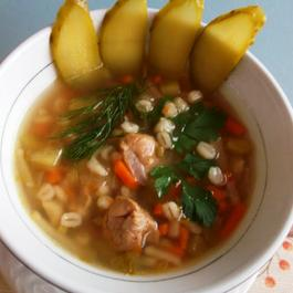 Rassolnik, Traditional Russian Soup With Pickles