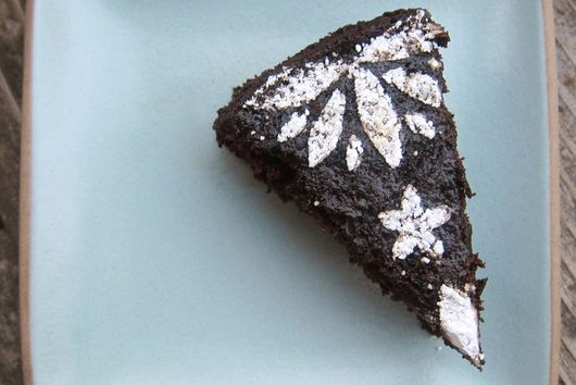 Orange and Black (Olive) Chocolate Cake