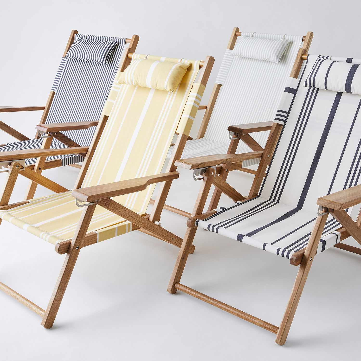 Vintage-Inspired Striped Beach Chairs
