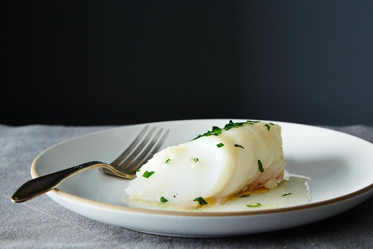 James peterson 39 s baked fish fillets with butter and sherry for Baking frozen fish