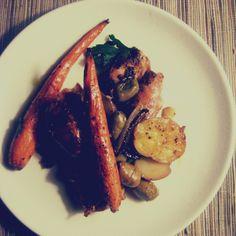 Two Pan Chicken Dinner