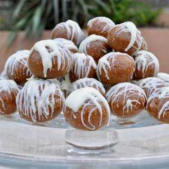 White chocolate ginger snap truffles