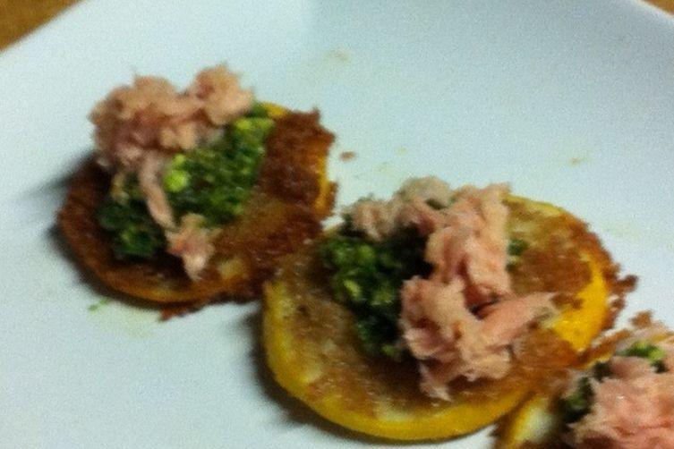 Tuna with Salsa Verde and Fried Meyer Lemons