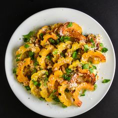 Squash with Parmesan & Walnuts