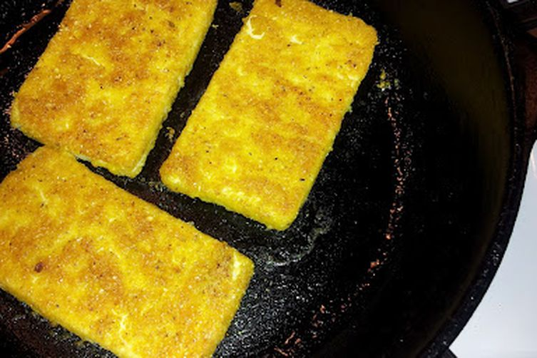 Fried Tofu Sandwich, Cornmeal Breading