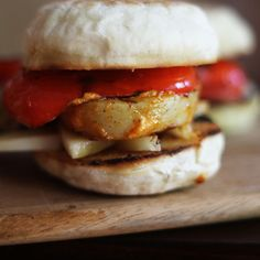 Manchego, Grilled Red Pepper + Potato Sandwich with Paprika Mayo