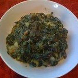 Potatoes,Eggplant and Spinach(Aloo Baingan Saag)