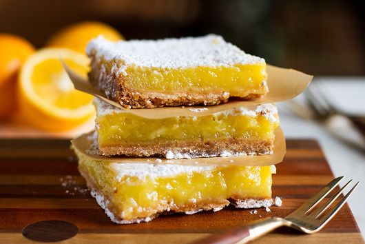 Meyer Lemon Bars on Salty Shortbread