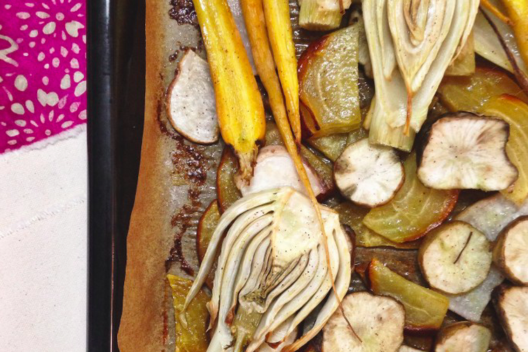 Roasted Root Vegetables with Rosemary-Infused Butter