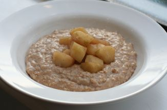 Chai-spiced Porridge with Stewed Apples Recipe on Food52