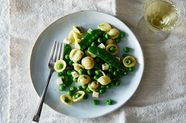 Pea and Orecchiette Spring Salad with Perlini and Mint