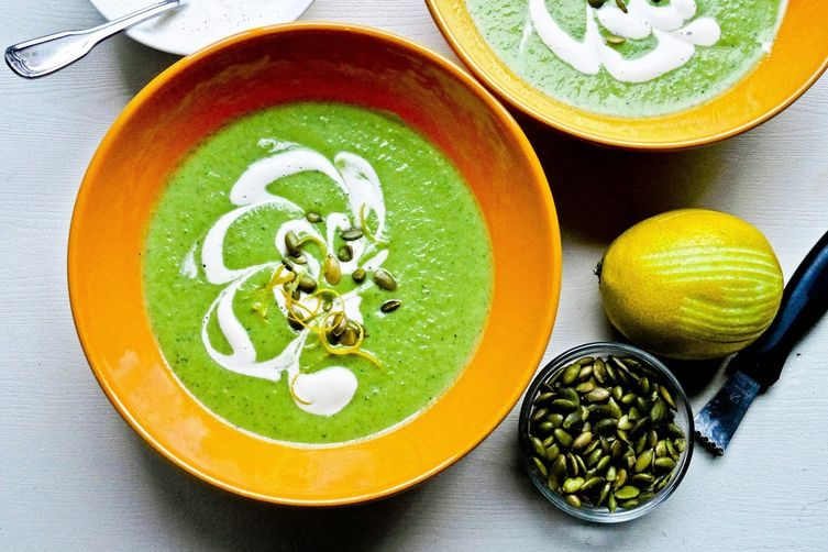 Cream of Broccoli Soup with Cashew Cream