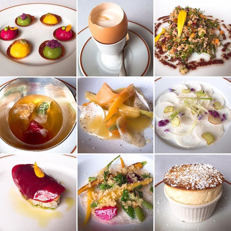 Just 9 of the 20 courses from L'Arpege's tasting menu lunch.