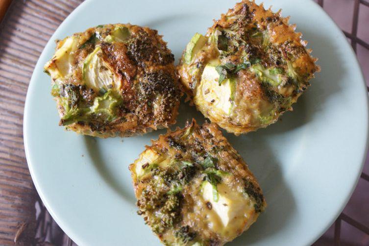 Veggie and Basil Egg Muffins