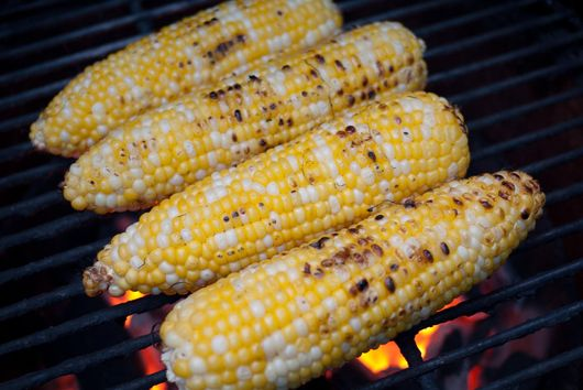 Butter Basted Grilled Sweet Corn