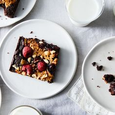 Gooey PBJ Brownies