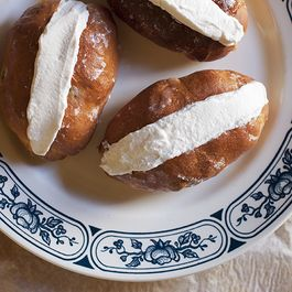 Sweet Yeasted Roman Buns with Whipped Cream (Maritozzi)