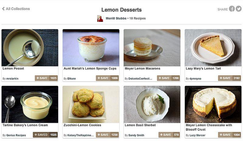Merrill's Favorite Lemon Desserts