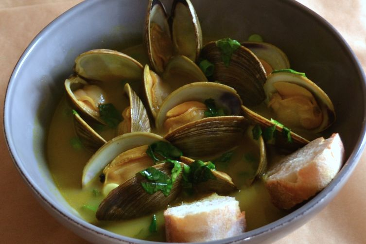 Littleneck Clams in a Citrusy Thai Broth
