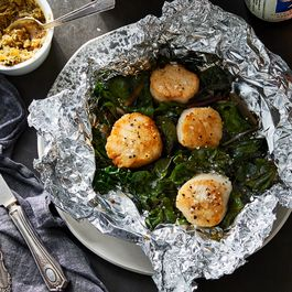 Foil packet scallops by Paulette Rufenacht